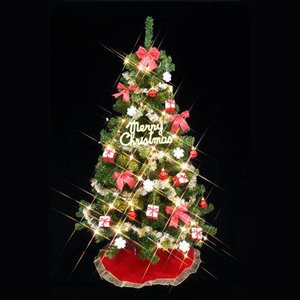 クリスマスツリー ツリーセット150cm 30球クリアライト付