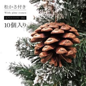 クリスマスツリー 北欧ツリーに欠かせない松かさ 10個入り オーナメント 松ぼっくり 飾り