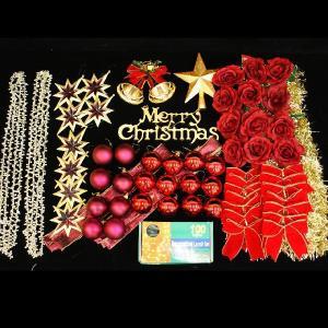 クリスマスツリー 北欧 オーナメント 飾り ライト オーナメントセット(クリアライト100球付) 飾り|ningyohonpo