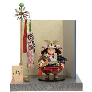 五月人形 平飾り子ども大将 新 幅45cm [ ya-125ko ]幸一光 江戸唐紙屏風 名匠 鯉の...