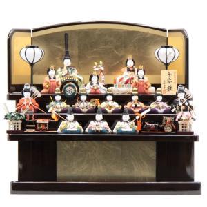 雛人形 木目込み 15人三段飾り D-20 一秀193to2001