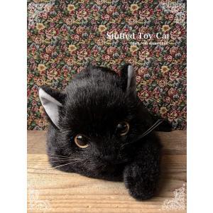 ぬいぐるみ 猫 リアル|黒猫(成猫)open eye ver.】猫 ねこ ネコ 誕生日 プレゼント ギフト クリスマス ペット ペットロス