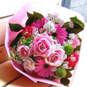 花束 おまかせピンクブーケ お祝い 開店祝い プレゼント