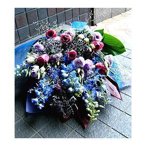 花束 おまかせ 紫 ブルー系 お祝い 開店祝い プレゼント