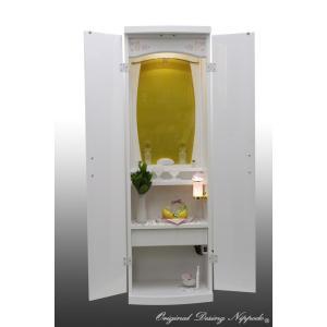 創価学会仏壇SGI専門 ウイズホワイト 国産品 仏具 付属品 LED照明付|nipodo