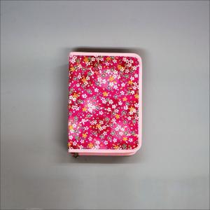 創価学会 御書カバー ピンクのちりめんに桜づくし サイドファスナー付|nipodo