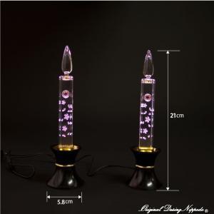創価学会仏壇 LEDダイヤローソク210型ピンク 黒台|nipodo