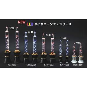 創価学会仏壇 LEDダイヤローソク210型ピンク 黒台|nipodo|07