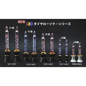 創価学会仏壇 LEDダイヤローソク20型 ゴールド 黒台 nipodo 07