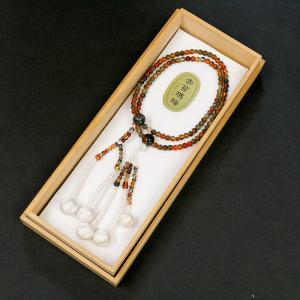 創価学会 貴石 赤苔瑪瑙念珠 手毬梵天|nipodo