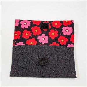 創価学会 念珠入/念珠ケース 黒色のお念珠入に可愛いお花模様花はな|nipodo