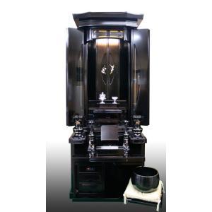 創価学会仏壇 のぞみ 収納型 唐木仏壇 徳島県伝統的特産品 仏具 付属品 LED照明付 nipodo