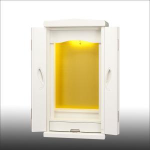 創価学会仏壇SGI専門 高級上置き仏壇 すずらん ホワイト 仏具 付属品 LED照明付|nipodo