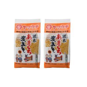 九州 熊本県 菊池 菊陽 老舗 醸造元  [山内本店] 味噌 熊本 あまくち 麦みそ 1000g×2|nipponmarche