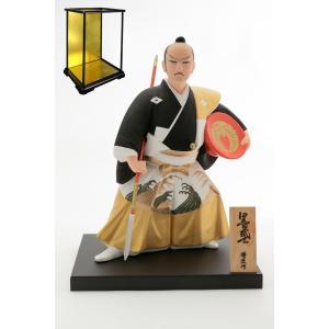 日本 侍 お祝い にんぎょう 福岡 博多 伝統 土産  [博多人形いとう] 黒田武士 G 博匠作 組み立て式 ガラスケース セット|nipponmarche