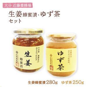 ゆず茶 生姜蜂蜜漬け 2本セット [近藤養蜂場] /九州 大分県 蜂蜜ゆず ゆずちゃ 柚子茶 生姜 しょうが はちみつ|nipponmarche