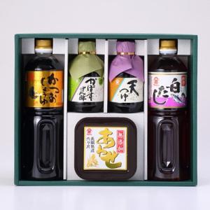 富士甚の人気商品(かつおしょうゆ、白だし、かぼすぽん酢、天つゆ、長熟無添加合わせみそ)を集めたギフトセットです。豊の香雅(TK-385) 富士甚醤油株式会社