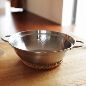 ステンレス製卓上鍋 肴七味 IH対応 〔約高さ8cm×径27.3cm、厚み約1mm〕