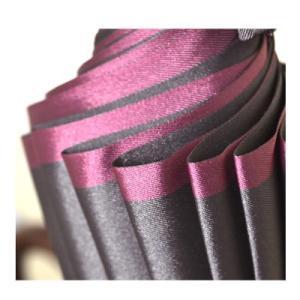 甲州織両面傘「かさね」女性用長傘16本骨 株式会社小宮商店 甲州織の重厚で深みのある生地を張った持ち姿が美しい長傘