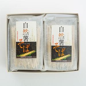 そば 送料無料 乾麺(日本蕎麦) 自然薯そば8食分セットつゆ...