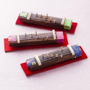 """琴 大正琴 ミニ琴""""極""""3個セット ずっとそばに置きたくなる、琴司が至高の技で仕上げた10cmの超ミ..."""