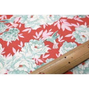 【ティルダ ファブリック/Tilda】Tilda W110 Hummingbird 100002-Coral|nippori-pakira