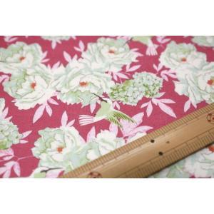 【ティルダ ファブリック/Tilda】Tilda W110 Hummingbird 100004-Plum|nippori-pakira