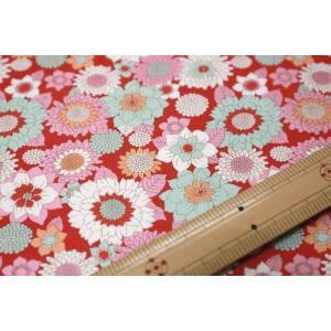 【ティルダ ファブリック/Tilda】Tilda W110 Boogie Flower 100010-Red|nippori-pakira