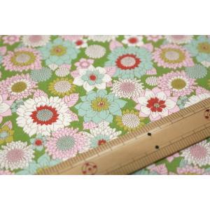 【ティルダ ファブリック/Tilda】Tilda W110 Boogie Flower 100012-Green|nippori-pakira