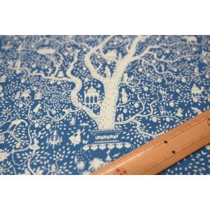 【ティルダ ファブリック/Tilda】Tilda W110 Lemontree 100014-Blue|nippori-pakira