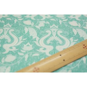【ティルダ ファブリック/Tilda】W110 Ocean Flower 100033-Teal nippori-pakira
