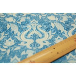 【ティルダ ファブリック/Tilda】W110 Ocean Flower 100034-Blue|nippori-pakira