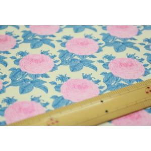 【ティルダ ファブリック/Tilda】W110 Grandma's Rose 100036-Blue|nippori-pakira