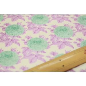 【ティルダ ファブリック/Tilda】W110 Grandma's Rose 100037-Lilac|nippori-pakira
