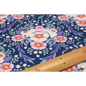 【ティルダ ファブリック/Tilda】Tilda W110 Anemone 100084-Night Blue|nippori-pakira