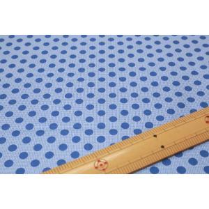 【ティルダ ファブリック/Tilda】Tilda W110 Medium Dots 130013-Denim Blue|nippori-pakira