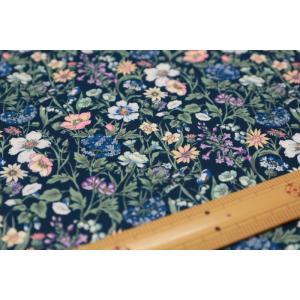 【リバティプリント/LIBERTY】Rachel Meadow 2349022-YE ※紺色に近いお色です。|nippori-pakira