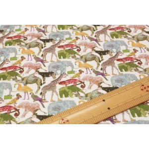 【リバティ11号帆布(インクジェット柄)/LIBERTY】 Queue for the Zoo 3634160-14C nippori-pakira