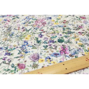 【リバティフランダースリネン/LIBERTY】Wild Flowers 3634251-A|nippori-pakira