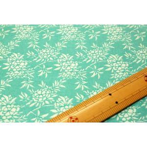 【ティルダ ファブリック/Tilda】Flower Bush Teal 481494|nippori-pakira
