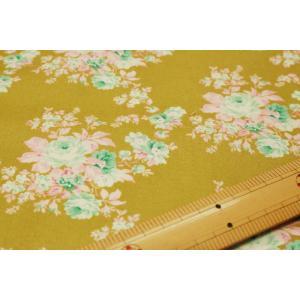 【ティルダ ファブリック/Tilda】Autumn Rose Green 481502|nippori-pakira
