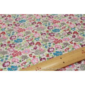 【リバティラミネート加工/LIBERTY】(Hello Kitty 45th Anniversary) Spring Meadow DC29967L-J19C|nippori-pakira