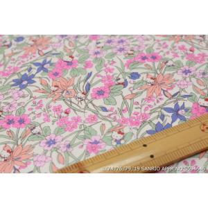 【リバティプリント/LIBERTY】(Hello Kitty 45th Anniversary) Floral Harvest DC29968-J19A|nippori-pakira