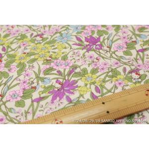 【リバティプリント/LIBERTY】(Hello Kitty 45th Anniversary) Floral Harvest DC29968-J19C|nippori-pakira