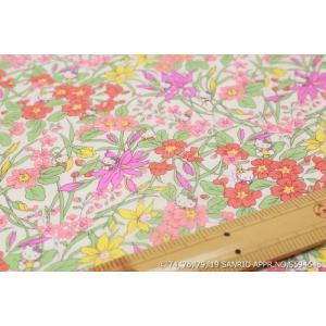 【リバティプリント/LIBERTY】(Hello Kitty 45th Anniversary) Floral Harvest DC29968-J19D|nippori-pakira
