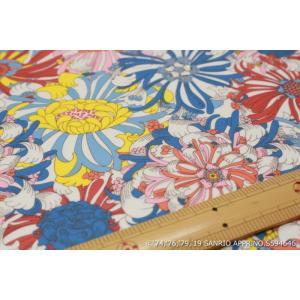 【リバティラミネート加工/LIBERTY】(Hello Kitty 45th Anniversary) Candy Flowers DC29970L-J19B|nippori-pakira
