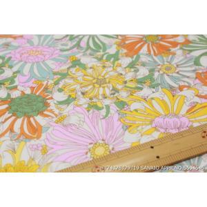 【リバティラミネート加工/LIBERTY】(Hello Kitty 45th Anniversary) Candy Flowers DC29970L-J19C|nippori-pakira