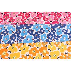 ダブルガーゼ 花柄(小) f12600-1