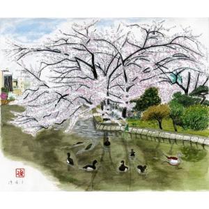 風景画 芭蕉 西の奥の細道1 上野不忍池