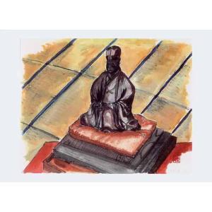 朝6時に建聖寺にお伺いし、住職さんに色々とお話を伺っていたところ、芭蕉の弟子が彫ったという芭蕉の木像...